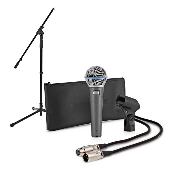Shure Beta 58A with Boom Mic Stand and 6m Cable