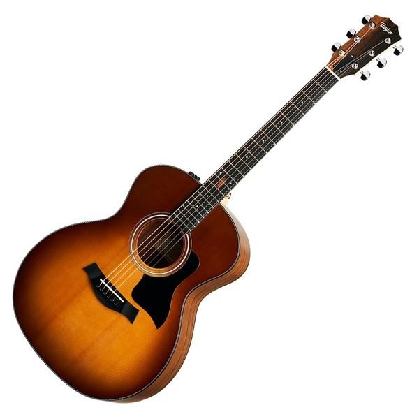 Taylor 114e Walnut Electro Acoustic, Satin Sunburst  - Front View