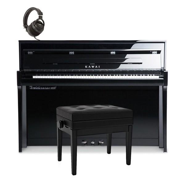 Kawai Novus NV5 Hybrid Digital Piano Package, Polished Ebony