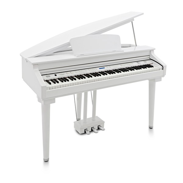GDP-200 Digital Grand Piano by Gear4music, Gloss White