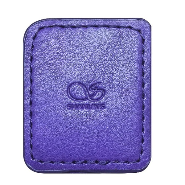 Shanling M0 Leather Case, Purple - Front