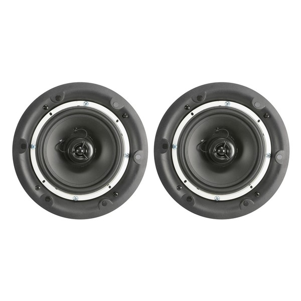 Adastra BCS65S 6.5'' Bluetooth Ceiling Speaker, Pair, Front without Grilles