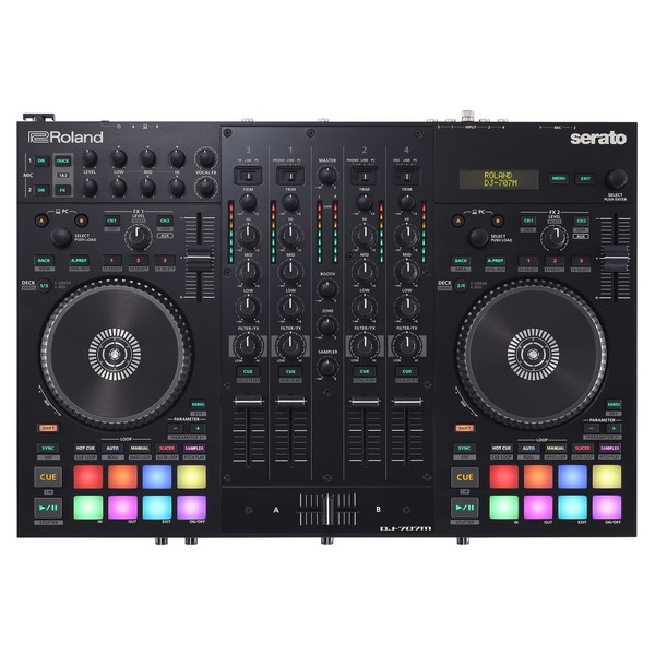 Roland DJ-707M Mobile DJ Controller - Top
