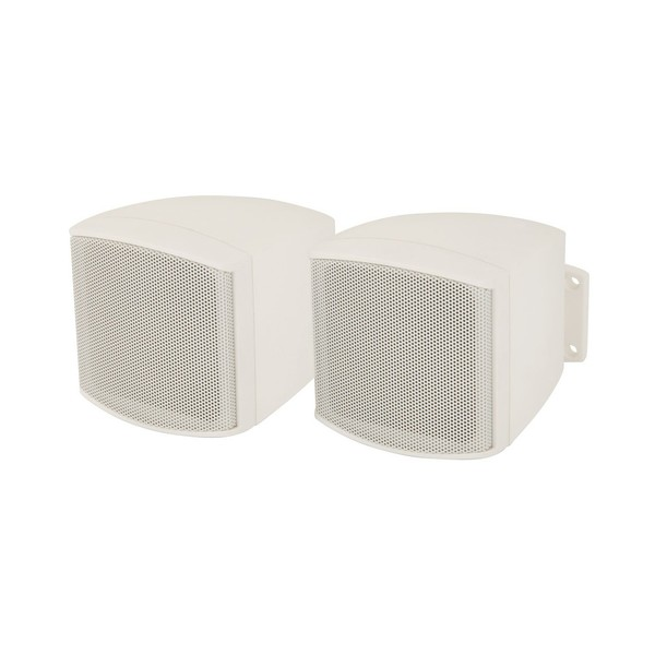 Adastra C25VW 2.5'' Compact Background Loudspeakers, White, Pair Front Angled