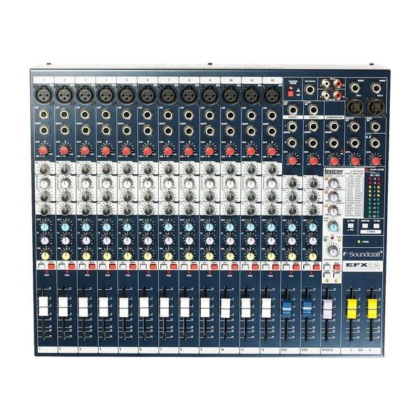 Soundcraft EFX12 Mixer with Lexicon FX, Control Panel