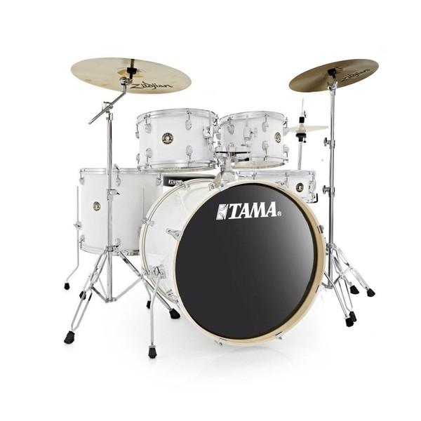 "Tama Rhythm Mate 22"" Drum Kit with Zildjian Cymbals, White - main image"