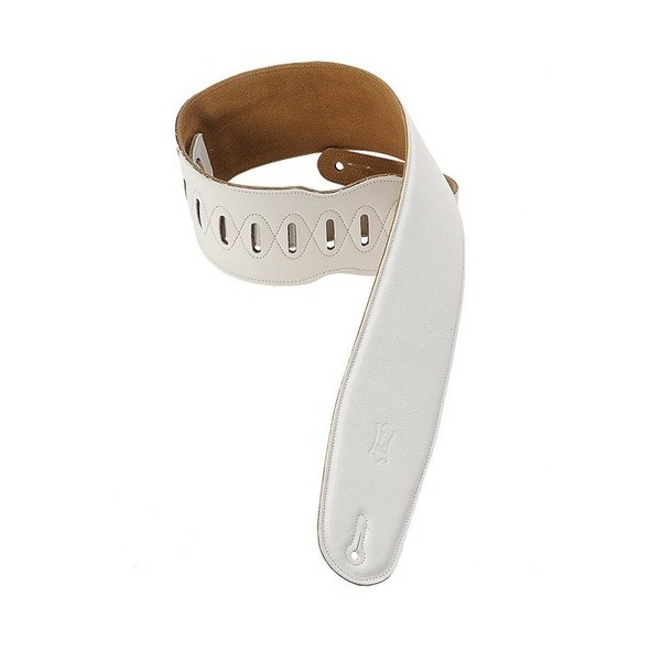 Levys M4GF Garment Leather Strap With Thong, White