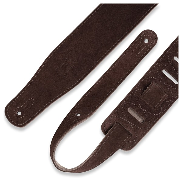 Levys MS26 Suede Leather Strap, Brown Strap Bits