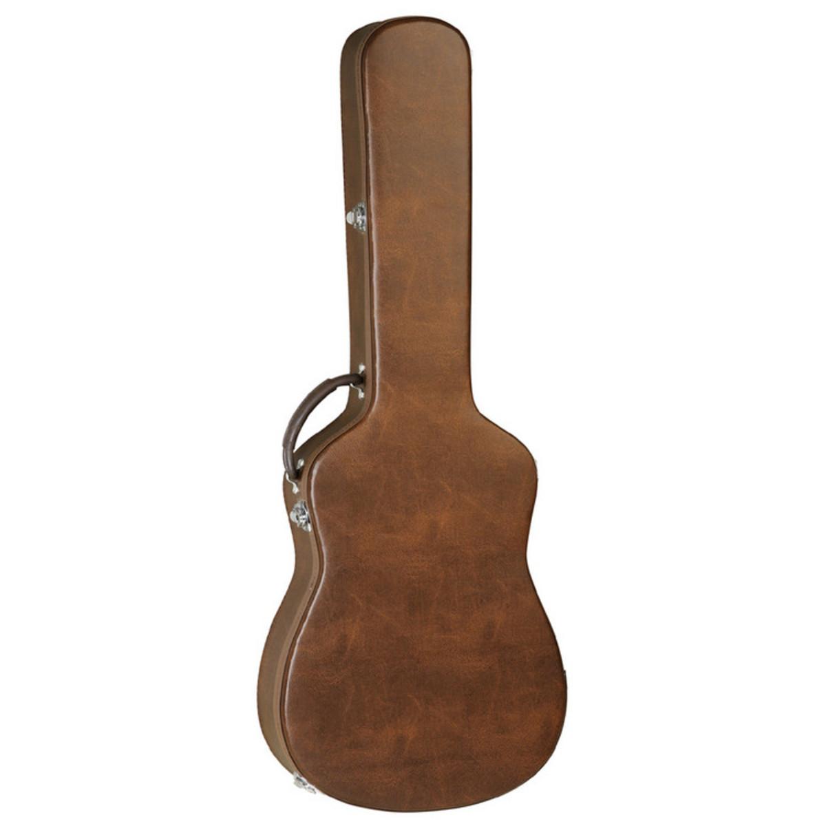 disc tanglewood nashville brown leather guitar case at gear4music. Black Bedroom Furniture Sets. Home Design Ideas