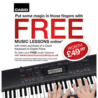 Casio Free Music Lessons Offer