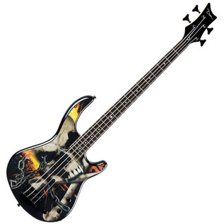 Dean Edge 10 Active Bass Guitar with Graphics, Skull Crusher