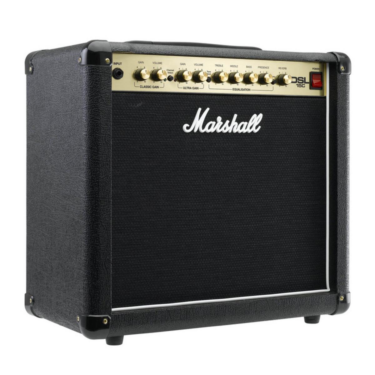 marshall dsl15c dsl series 15w guitar combo amp at. Black Bedroom Furniture Sets. Home Design Ideas