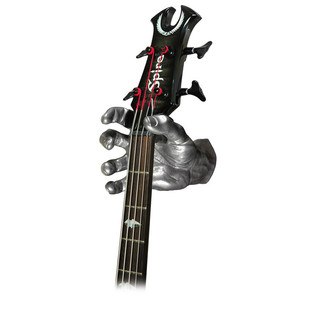 Grip Studios GS-1 Custom Guitar Hanger, Metal Mayhem, Right Hand with Guitar