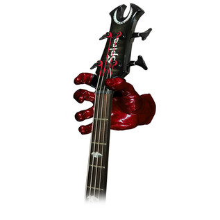 Grip Studios GS-1 Custom Guitar Hanger, Red Rum, Right Hand with Guitar