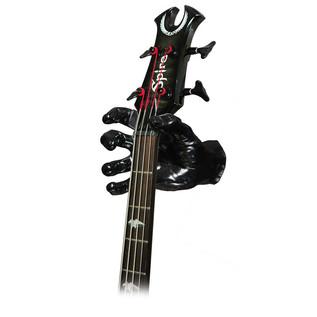 Grip Studios GS-1 Custom Guitar Hanger, Black Pearl, Right Hand with Guitar