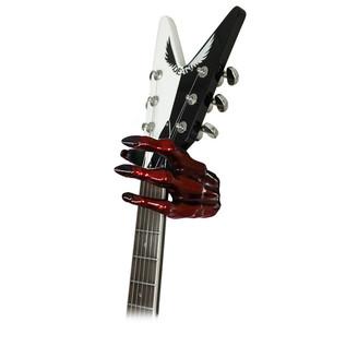 Grip Studios GS-2 Custom Guitar Hanger, Monster Red, Left Hand with Guitar