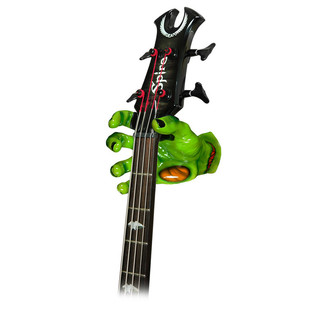 Grip Studios Air Brushed Custom Guitar Hanger, UnDead Fred Right Hand with Guitar
