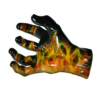 Grip Studios Air Brushed Custom Guitar Hanger, Scoppio, Right Hand Palm Detail