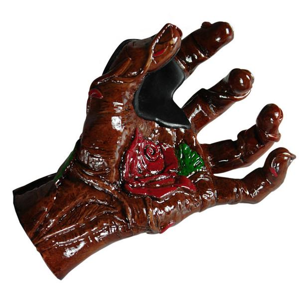 Grip Studios Hand Carved Guitar Hanger, Bella Rose, Left Hand Palm Detail