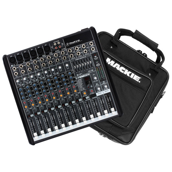 mackie profx12 channel mixer with fx with mackie padded mixer bag at gear4music. Black Bedroom Furniture Sets. Home Design Ideas