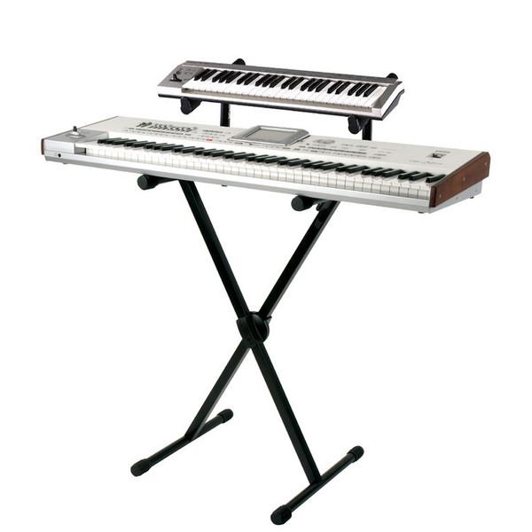 "Quiklok T500 Heavy-Duty Keyboard ""X"" Stand w/ Trigger-Lok (with Keyboard)"