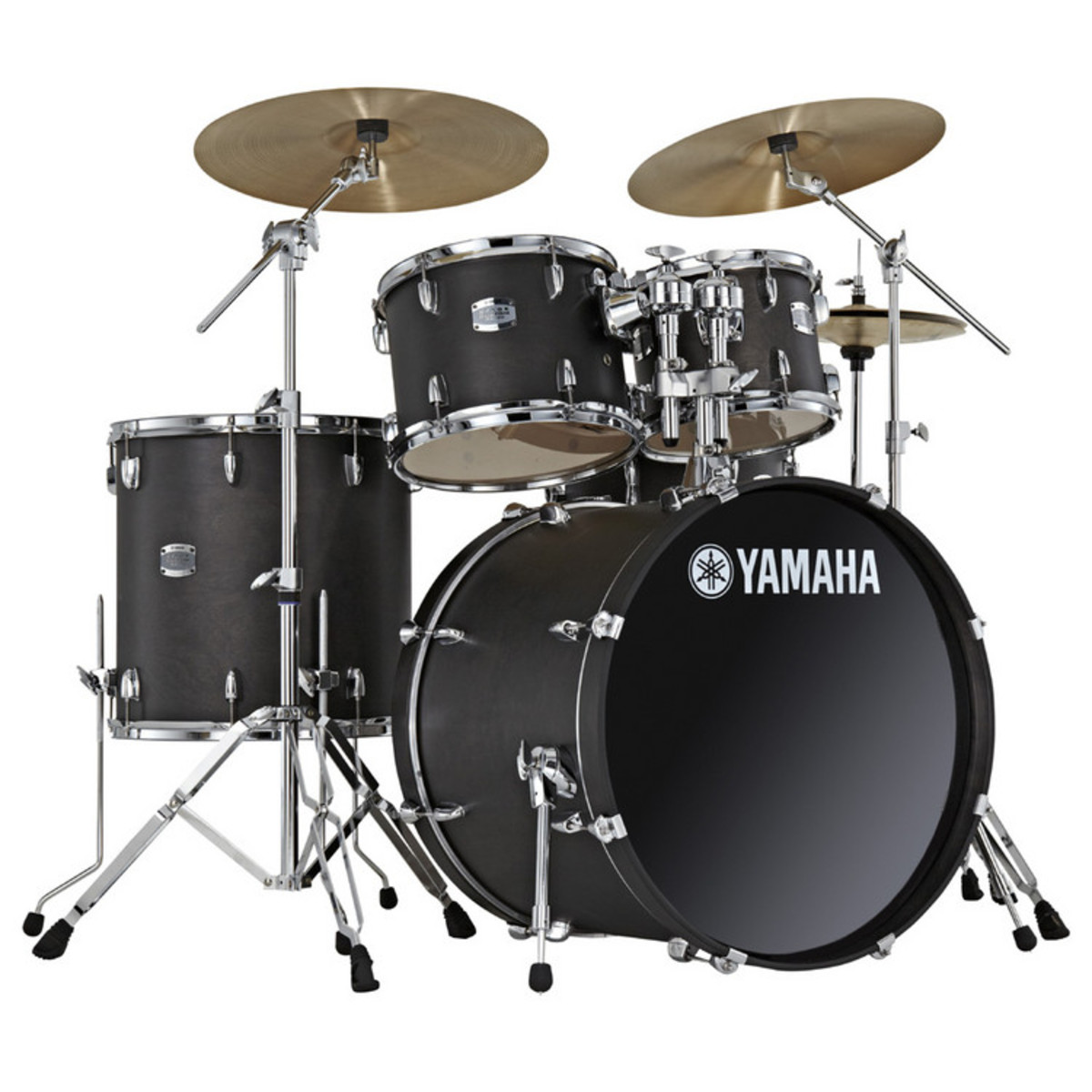Disc Yamaha Stage Custom 22 Rock Fusion Kit Matte Black At Gear4music