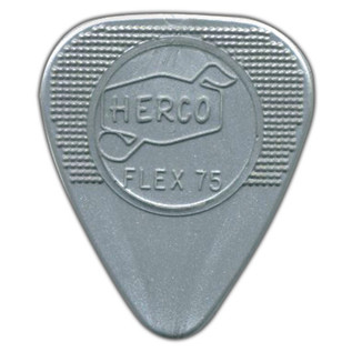 Jim Dunlop Flex75 Heavy, Silver, Players Pack of 12