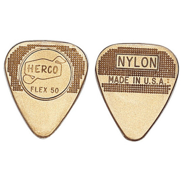 Jim Dunlop Flex50 Medium, Gold, Players Pack of 12 (Main)