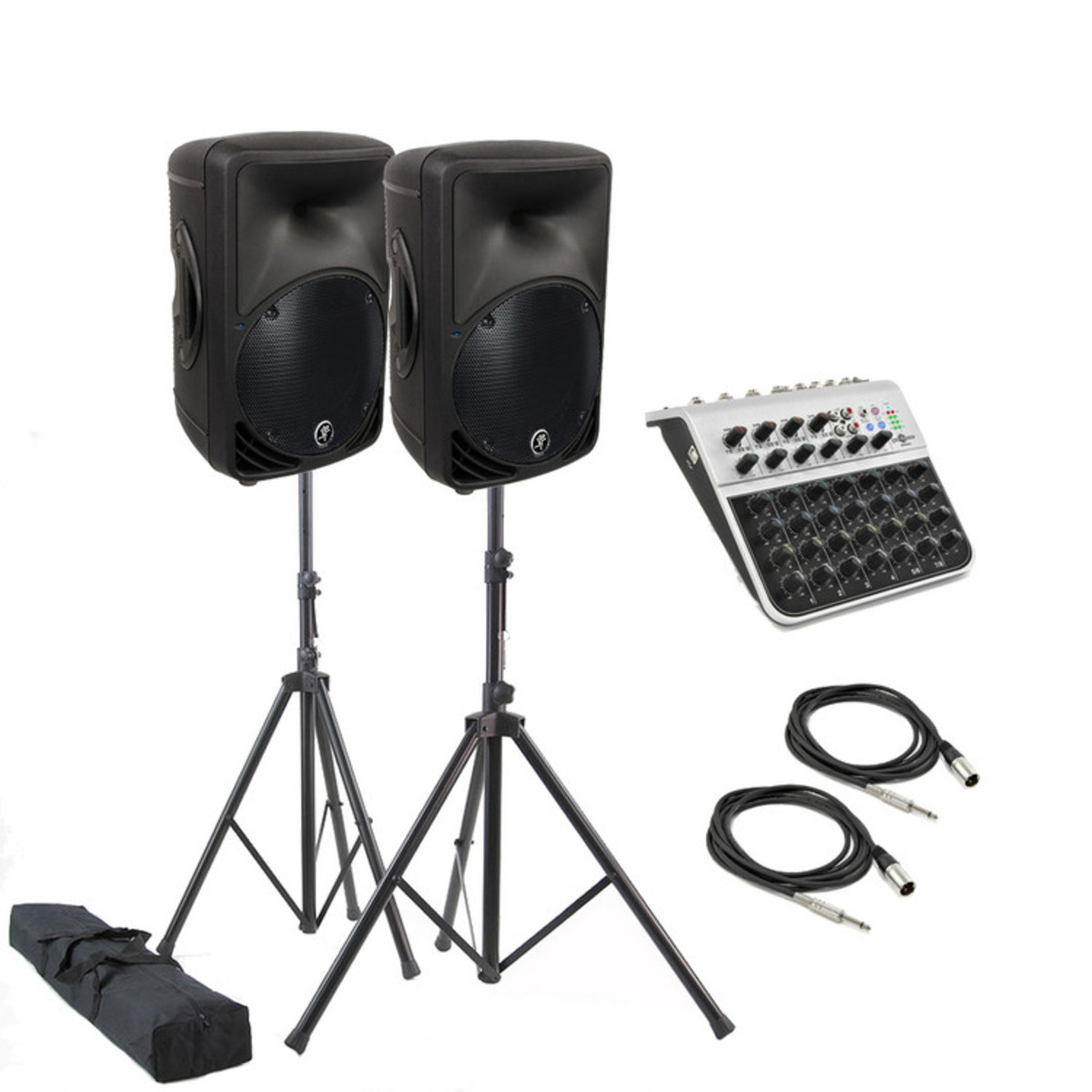 disc mackie srm350 v2 active pa system with mixer and speaker stands at gear4music. Black Bedroom Furniture Sets. Home Design Ideas