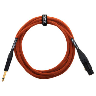 Orange 10 ft Mic Jack/XLR Cable, Orange Woven