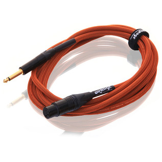 Orange 10 ft Mic Jack/XLR Cable, Orange Woven (2)