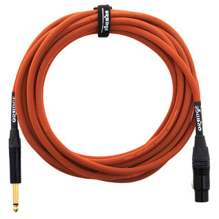 Orange 20 ft Mic Jack/XLR Cable, Orange Woven