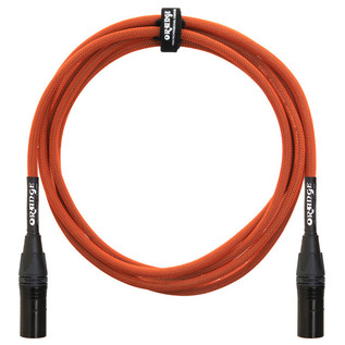 Orange 10 ft Mic XLR/XLR Cable, Orange Woven