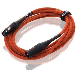 Orange 10 ft Mic XLR/XLR Cable, Orange Woven (2)