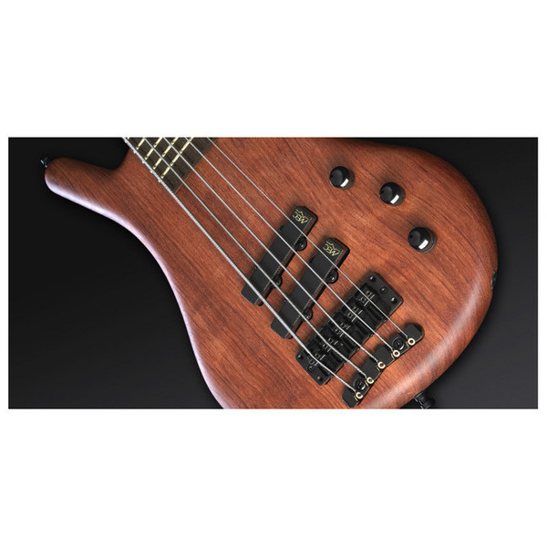 Warwick Thumb Bolt-On 5-String Bass, Natural OF, Black Hardware (Close Up 3)
