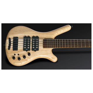 Warwick Corvette $$ 5-String Bass,Swamp Ash,Natural OF,Black Hardware (Close Up)