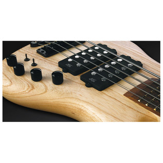 Warwick Corvette $$ 5-String Bass,Swamp Ash,Natural OF,Black Hardware (Close Up 3)