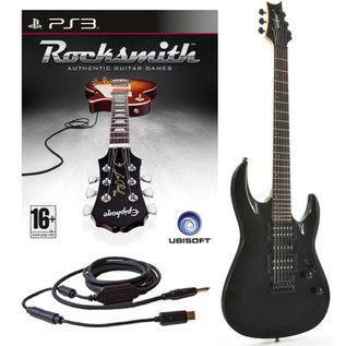 Ubisoft Rocksmith + Black Knight CX-13 Guitar, Black PS3 Package