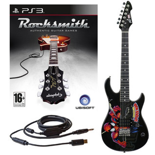 Ubisoft Rocksmith + MARVEL Spider Man 3/4 Electric Guitar PS3 Package