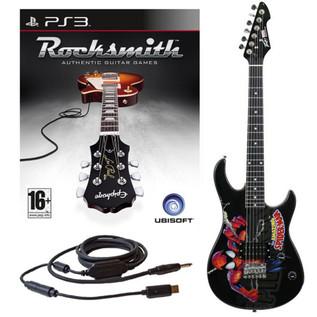 Ubisoft Rocksmith + MARVEL Spider Man 3/4 Electric Guitar PS3 Package
