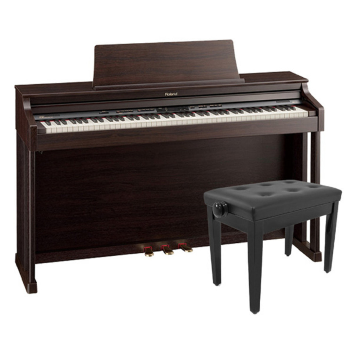 Disc Roland Hp305 Digital Piano Rosewood With Rise Piano