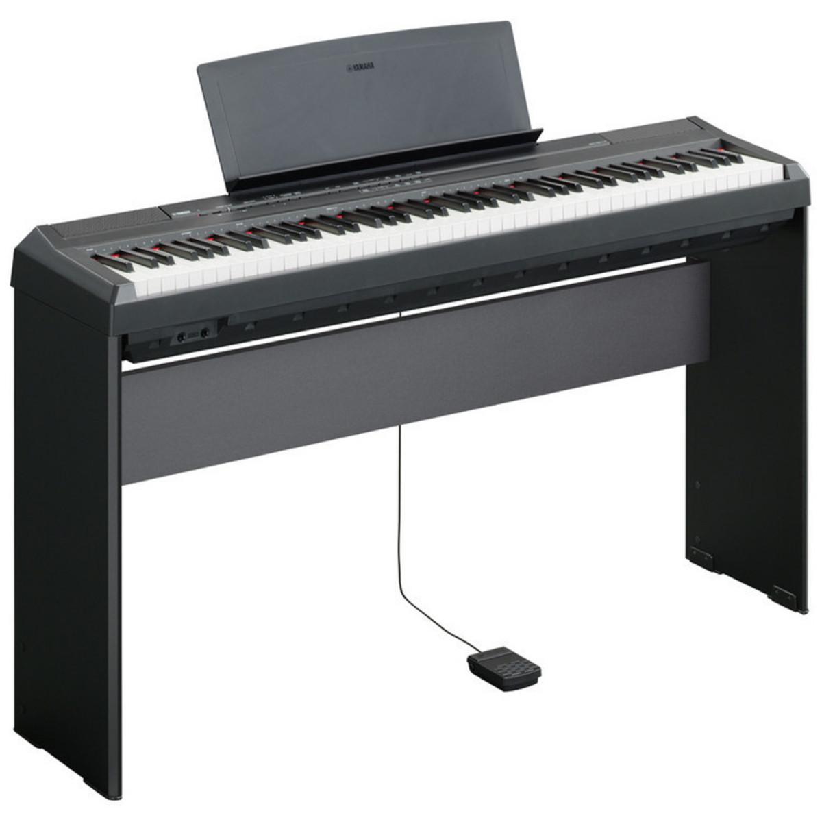 Disc Yamaha P105 Digital Piano Black W Stand Pedal