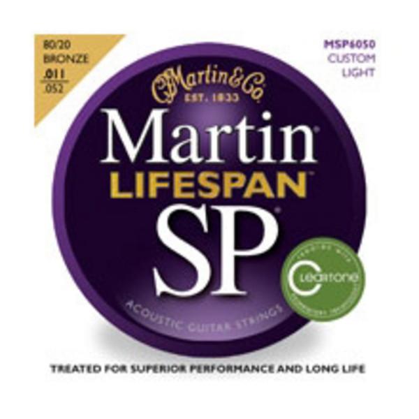 Martin Lifespan Phosphor Bronze Custom Light Acoustic Strings 011-052