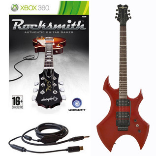 Ubisoft Rocksmith + Metal X Electric Guitar, Red Xbox Package