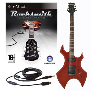 Ubisoft Rocksmith + Metal X Electric Guitar, Red PS3 Package