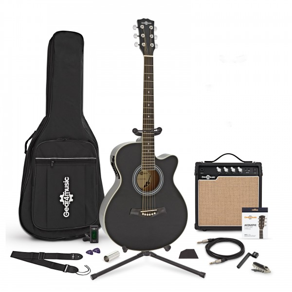 Single Cutaway Electro Acoustic Guitar + Complete Pack by Gear4music - main