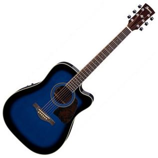 Ibanez AW70 Electro-Acoustic Artwood Guitar, Trans Blue Sunburst