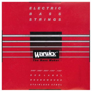 Warwick 42300 Red Label Medium-Light Bass Strings (40-130), 5-String