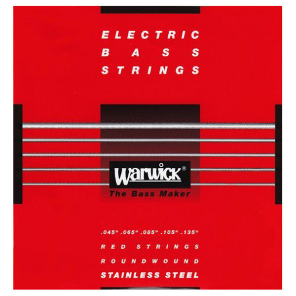 Warwick 42301 Red Label Medium Bass Strings (45-135), 5-String