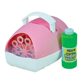 Cheetah Party Time Battery Operated Bubble Machine, Pink
